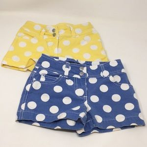 Girls 2 Pair mini Boden Shorts 6Y